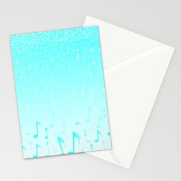 Snowing Music Stationery Cards