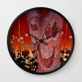A Spook in the Thistles Wall Clock