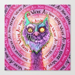 Cheshire Catastrophe Canvas Print