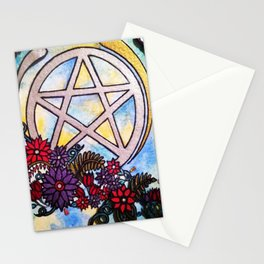 3d pentacle Stationery Cards