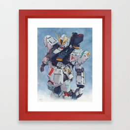 Nu Gundam watercolor Framed Art Print