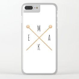MAKE  |  Knitting Needles Clear iPhone Case