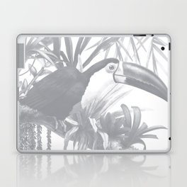 Toucans and Bromeliads - Sharkskin Grey Laptop & iPad Skin