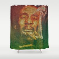 marley Shower Curtains featuring Marley by Robotic Ewe