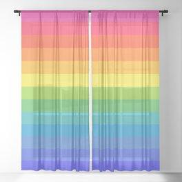Solid Rainbow Sheer Curtain