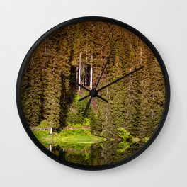 Rainbow Lake (Carezza, Dolomites) Wall Clock