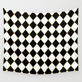 Chess board with golden threads Wall Tapestry