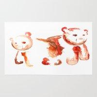 bears Area & Throw Rugs featuring Bears by 5CUZ1