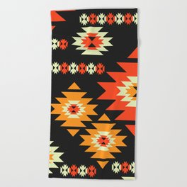 Native geometric shapes Beach Towel