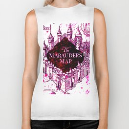 Pink of marauders map Biker Tank