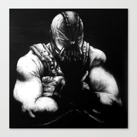 bane Canvas Prints featuring Bane by NickHarriganArtwork