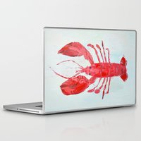lobster Laptop & iPad Skins featuring Coastal Lobster by Ann Marie Coolick