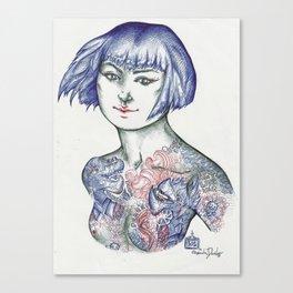 Yakuza Nipples Canvas Print
