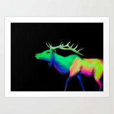 Elk #7 Art Print