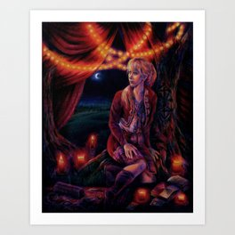 The Secret Sleeps Art Print