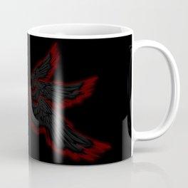 Black Red Archangel Wings Coffee Mug