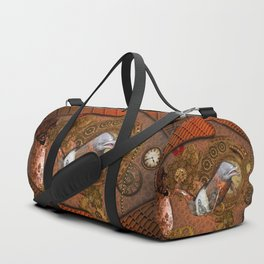 Steampunk, Wonderful dolphin Duffle Bag