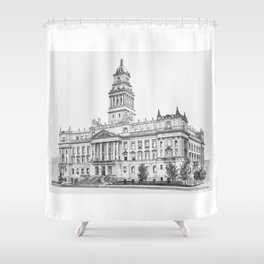 Wayne County Court House | Detroit Michigan Shower Curtain