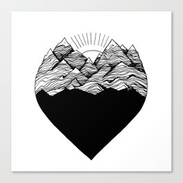 Heart is buried Canvas Print