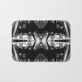 155 - Black and White abstract design Bath Mat