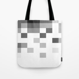 Gray Scale In Pixels Tote Bag