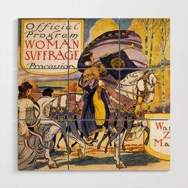 Women's March On Washington, Votes For Women, Women's Suffrage Wood Wall Art