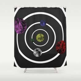 Orbits Of Colour Shower Curtain