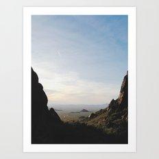 Palm Sunset Canyon Art Print