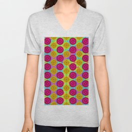Differences in pattern ... Unisex V-Neck