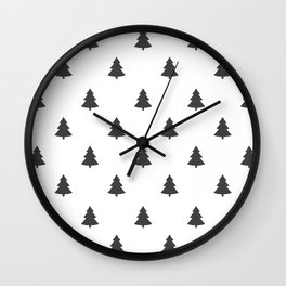 Hipster Exploring Wild Pine Trees Wall Clock