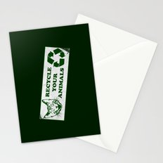 Recycle your animals - Fight club Stationery Cards