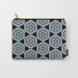 Transparent Floral Sushi Geometric Pattern Carry-All Pouch