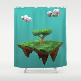 lowpoly summer Shower Curtain