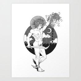Perseus//Blood Ocean Art Print