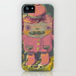 lumberjack girl portrait (sister nature's evil twin) iPhone Case
