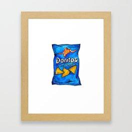 Cool Ranch Doritos Framed Art Print