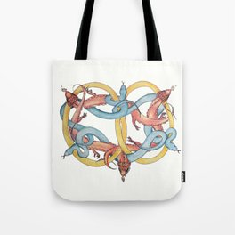 Dragons and Snakes Entwined Eternal Tote Bag