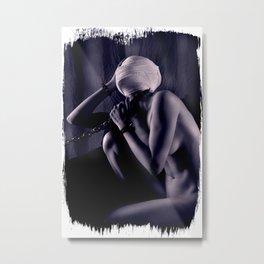 Bandaged Captive Metal Print