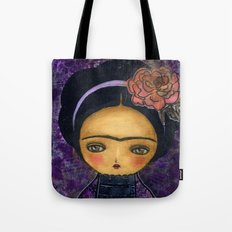 Frida In A Violet And Purple Dress Tote Bag