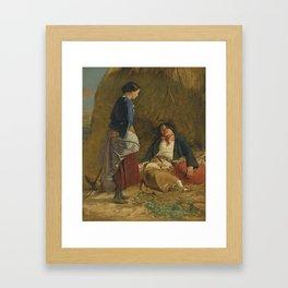 Robert Carrick 1819-1904 WEARY LIFE Framed Art Print