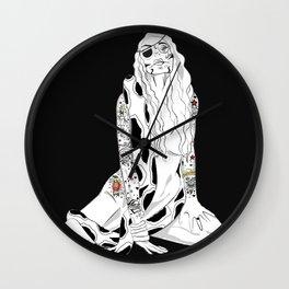 GIRL INKED UP Wall Clock