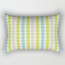 Grey, Green and Blue Abstract Polka Dot Pattern Rectangular Pillow