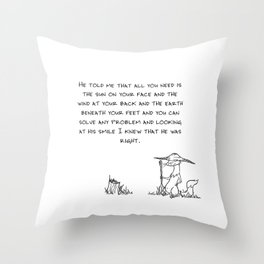 Solve any problem Throw Pillow