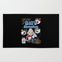 haunted mansion Area & Throw Rugs featuring Bill's Mansion by Mike Handy Art