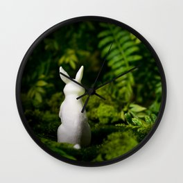 White Bunny with back turned Wall Clock