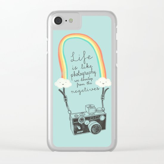 Life is like Photography Clear iPhone Case