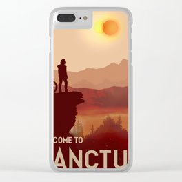 WELCOME TO SANCTUM Clear iPhone Case