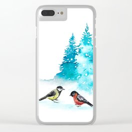 The Heart Of Winter Clear iPhone Case