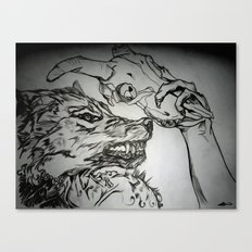 Pullin the Wolf Over My Eyes Canvas Print
