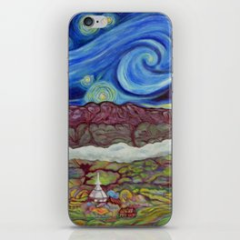 Sunny Starry Night iPhone Skin